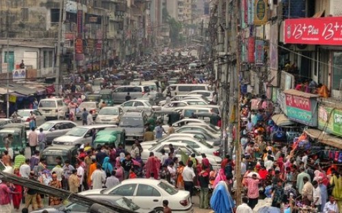 Bustling streets, booming economy