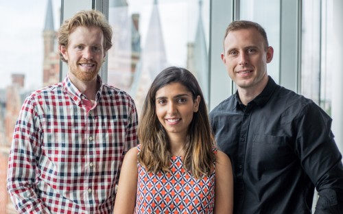 A look in: Christopher Larson (Left), Arfa Rehman (Middle) and Scott Gorman (Right) founded VRTU