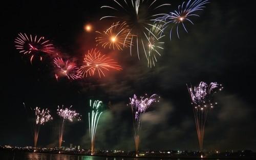 Fireworks mark the Hindu festival of light