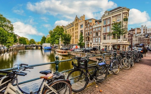 Amsterdam is ranked among the happiest cities in the world