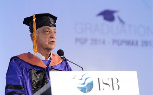 Azim Premji, chairman of Wipro Ltd, at ISB's graduation day