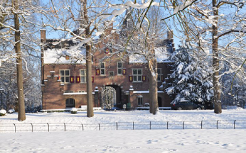 The Gate House, entry to the Nyenrode winter wonderland...