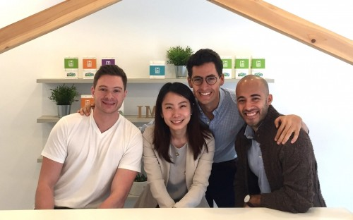 (from left) Taylor Scobbie, An-Nung Chen, Andres Escobar, & Juan Diego Prudot make up IMPCT Coffee