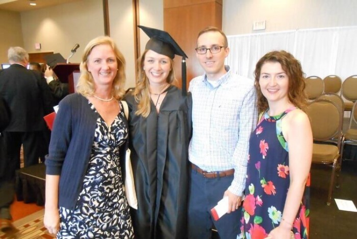 Astrid (second from left) graduated from Fisher in 2016, and now owns a social impact firm