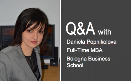 Bologna financial high-achiever Daniela Popnikolova sets herself high standards