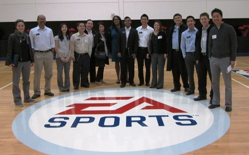 Members of the High Tech Business Association at UCLA's Anderson School of Management