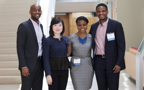 Van Jones (far right) is a 2014 MBA graduate from Chicago Booth