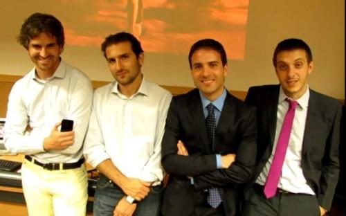 The Movym team: Sebastiano Bertani, Davide Arconte, Elio Di Fiore and Raffaele Cicerone