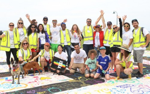 Sam organized Sydney's Rainbow Walk in support of same-sex marriage in October 2017