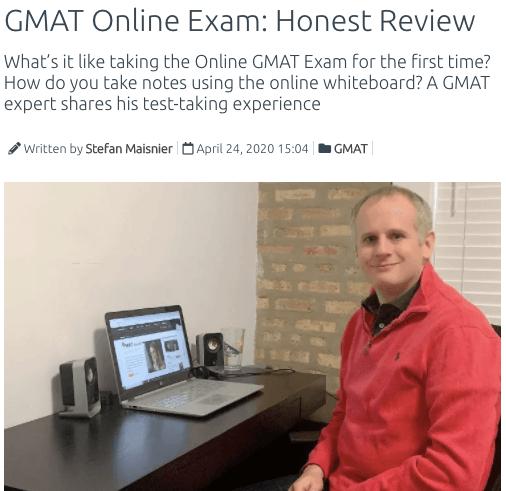 gmat online exam review
