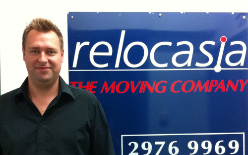 Ben Tyrrell co-founded his own international removals business