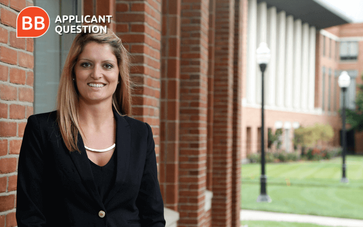 Sarah Campbell gives her advice for prospective MBA students