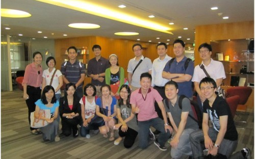 Smiles all round for Nanyang MBAs on the intensive English class!
