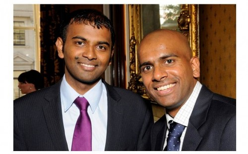 Nadesh Sithambaram (r) followed his customer Anthony Anandan (l) to do the Aston Online MBA!