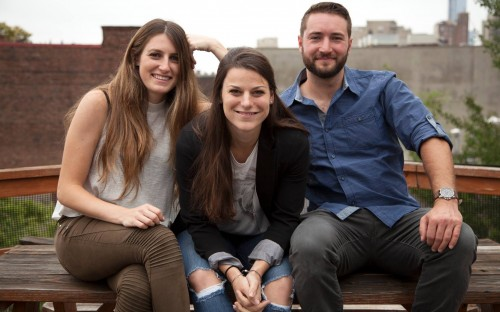 Jessica (center) with the Play Bucket team; Miriam Rosenhaus (left) and Josh Caton (right)