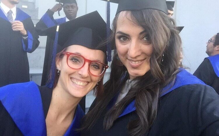 Virginia and Barbara on their graduation day in 2018