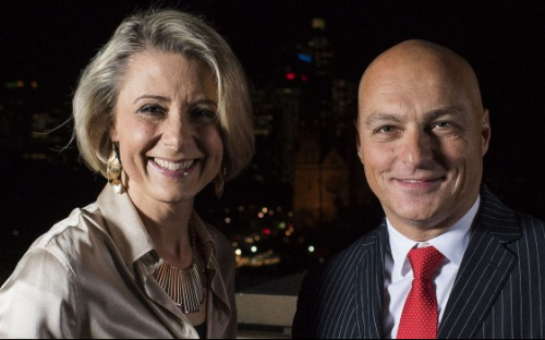 Kristina Keneally and Macquarie Graduate School of Management dean Alex Frino