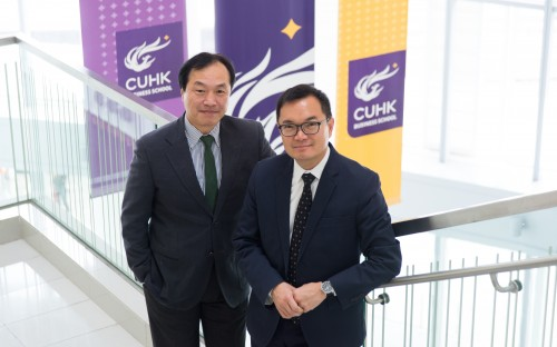 Co-directors of the new CUHK Masters in Management, Shige Makino (left) and John Lai (right)