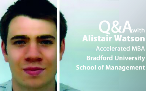 The current class on Bradford's Accelerated MBA has 16 students from five continents