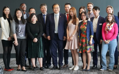 CEIBS MBA alumni were treated to one of professor Xu Bin's famous lectures