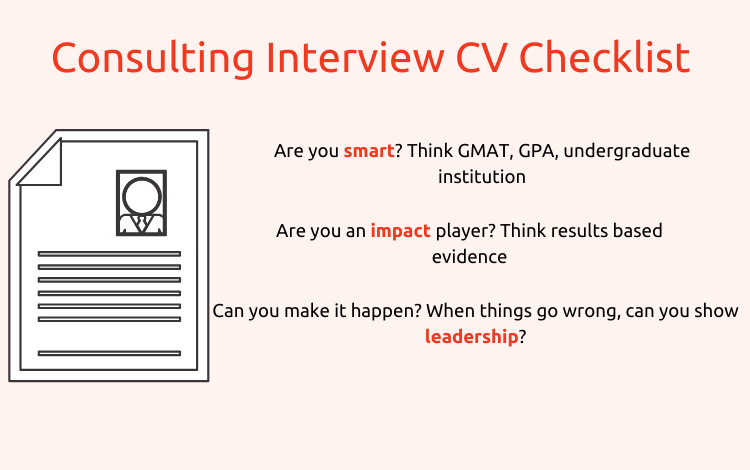 mba consulting interview checklist