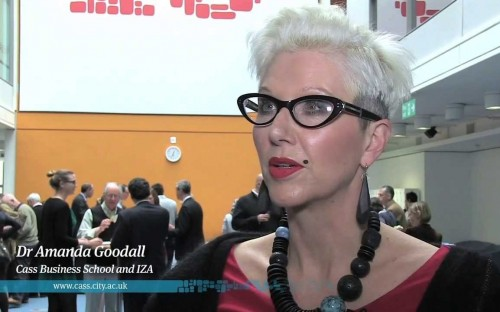 Dr Amanda Goodall is a senior lecturer in management at London's Cass Business School