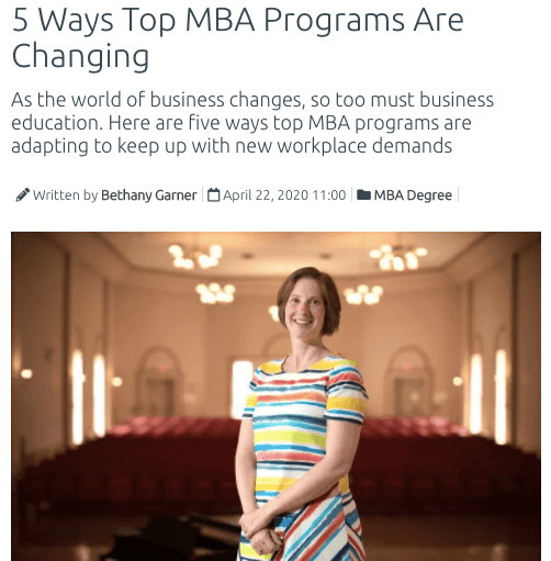 top mba programs changing