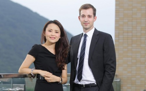 Michael with a fellow MBA colleague at HKUST Business School in Hong Kong