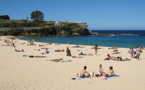 Coogee Beach is at 20 minute walk from the AGSM campus in Sydney, Australia. AGSM's MBA program is ranked first in Australia (FT) and fourth in Asia Pacific (QS).