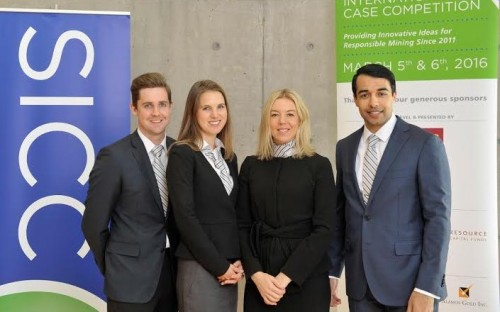Matt (far left) and his colleagues at the Schulich International Case Competition in Toronto