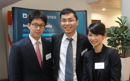 Chris Wong (centre) with CEIBS classmates. He chose CEIBS because he wants to make a career in China