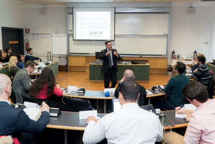 Bocconi's EMMS takes a blended learning approach with students taught on-campus and online