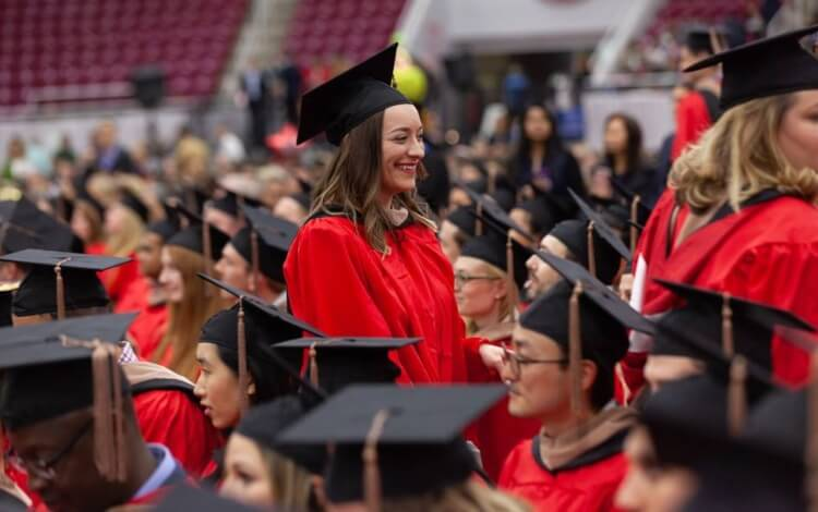 Boston University school of Business graduation