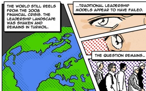 The Leadership Summit's comic strip theme - inspired by the Roy Lichtenstein exhibition in town?