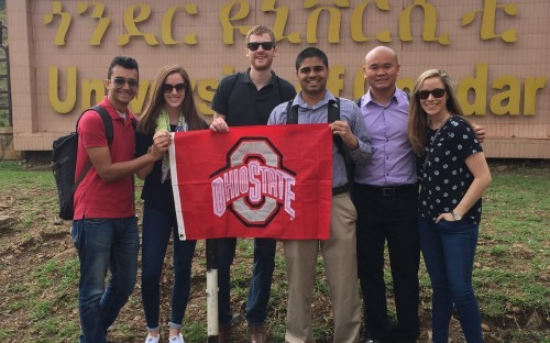 Part-time MBA Carrie Kiesel (far right) took three weeks off work for GAP project in Ethiopia