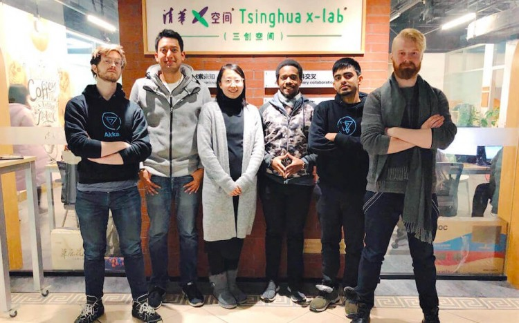 Alvaro (second from left) completed the Tsinghua-MIT Global MBA Program in Beijing in 2018