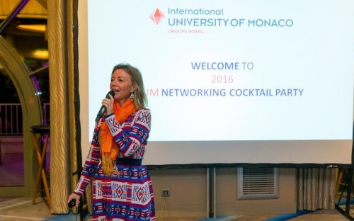 Sophie presenting at IUM's annual networking cocktail party in January this year