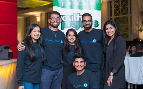 (from left) Third Man Up co-founders Suri, Jude, Natasha, Rishi, & Srinath