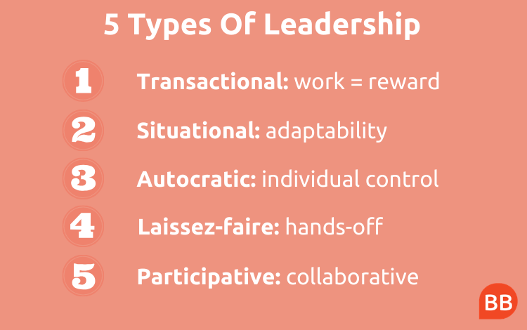 5 Types Of Leadership Styles And When To Use Them