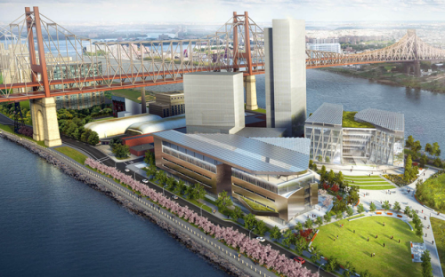 An artist's impression of Cornell Tech's campus on Roosevelt Island, New York