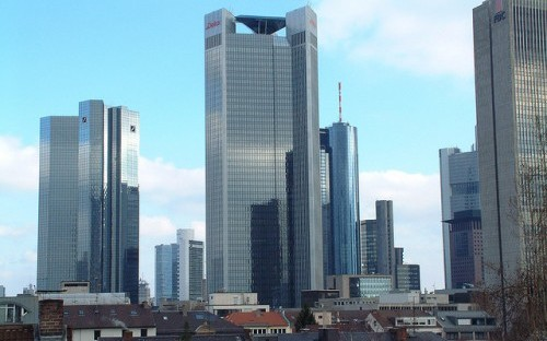 The Frankfurt skyline. Leo Tom Zachariah got to know the city well during his MBA at EBS Business School.