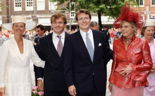 (from L-R): HRH Princess Mable, HRH Prince Friso, HRH Prince Constantijn, HRH Princess Laurentien