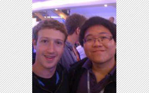 Facebook Founder and CEO Mark Zuckerberg (left) at a developer garage in London last year with BusinessBecause's Tian Ng