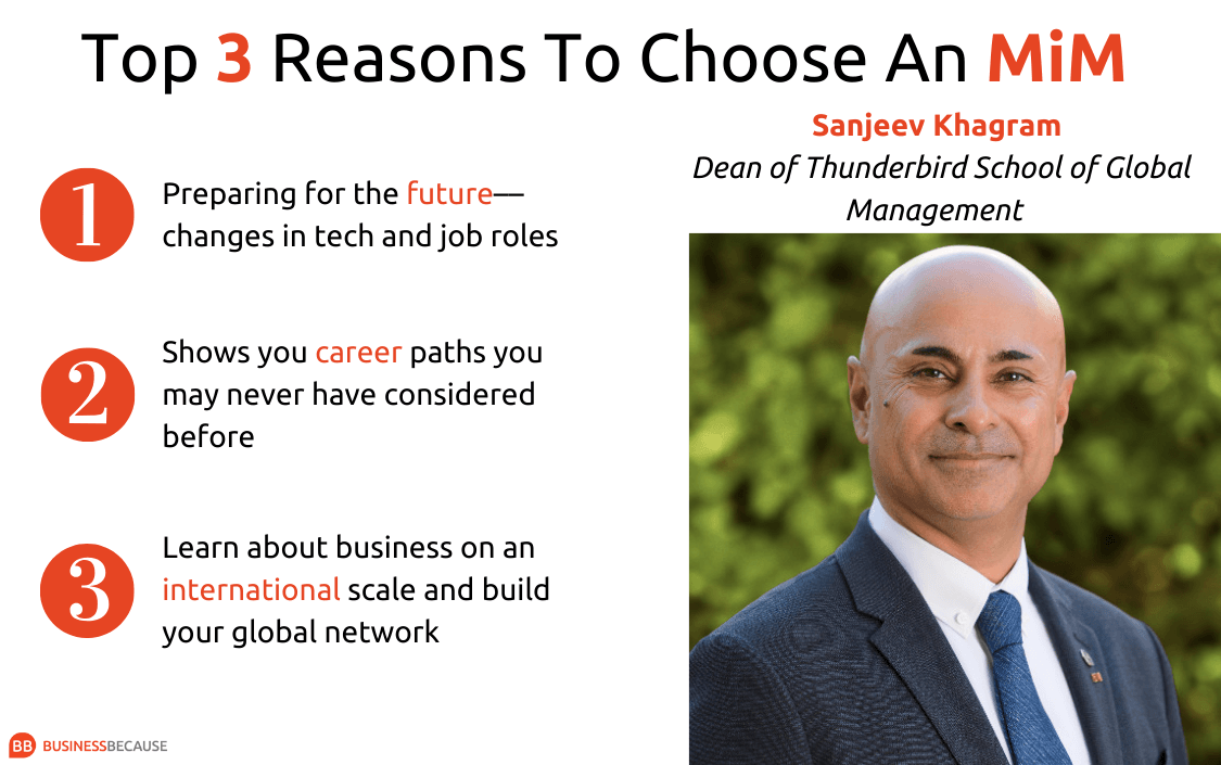 Thunderbird dean Sanjeev Khagram's top three reasons to choose a master's in management