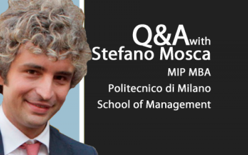 The careers service at MIP helped Stefano secure a project at Italy's Barilla Group