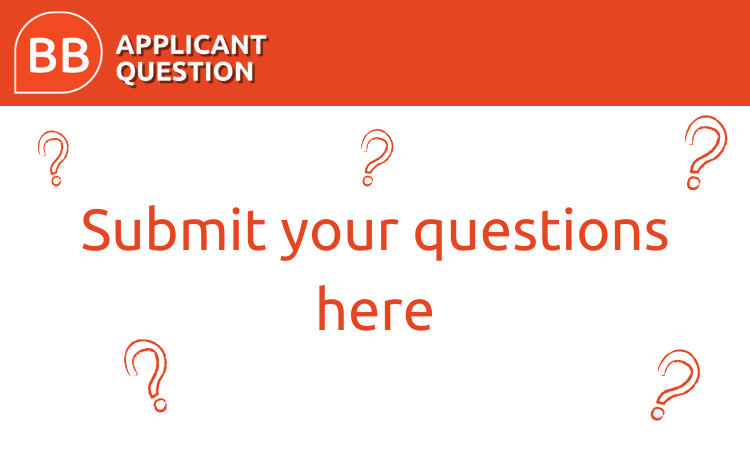 Applicant Question of the Week: ask an expert a question
