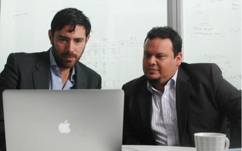 Leo Castellanos, left, with fellow EMBA alumnus and co-founder Alfredo Ramirezm