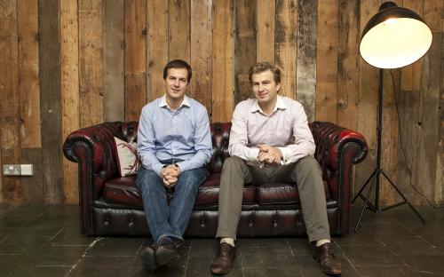 INSEAD MBA graduate Taavet Hinrikus, left, and TransferWise co-founder Kristo Kaarmann
