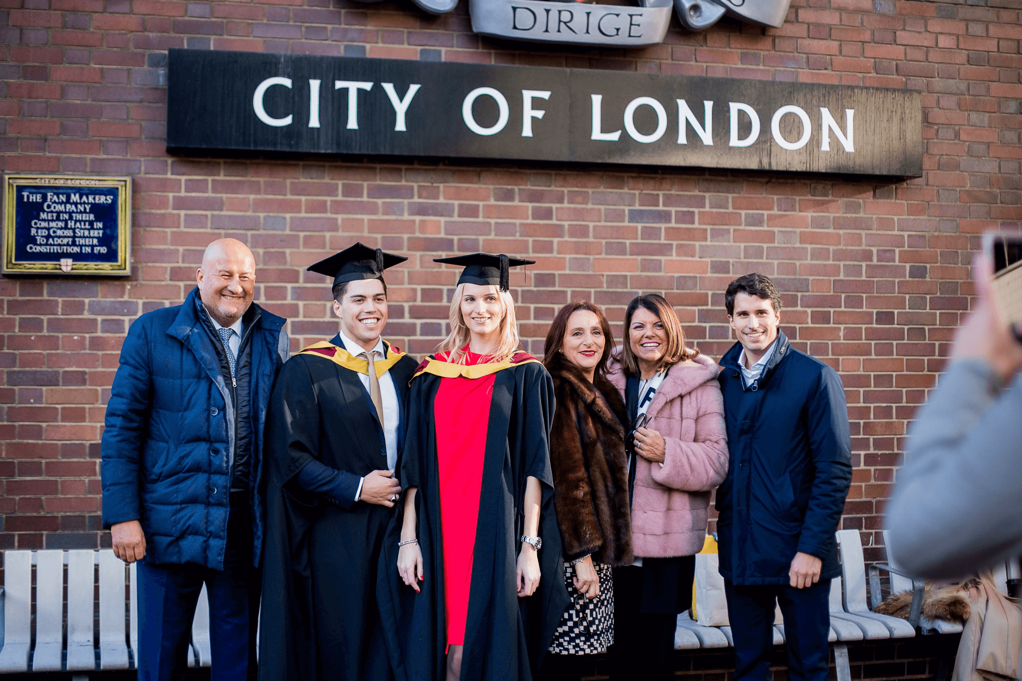 Cass Business School students graduate