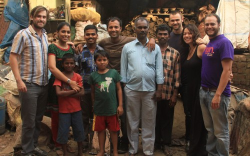 Some of the Origin co-founders in the slums of Dharavi, after conducting a focus group with locals